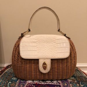 Eric Javits Bags - Eric Javits Vintage Woven Purse - White Leather